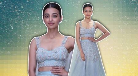 Radhika Apte's cool blue lehenga is something we need in our wardrobe