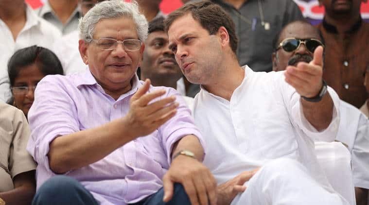 Congress, Rahul Gandhi, Sitaram Yechury, BJP, Trinamool Congress, Congress, Congress CPM alliance, lok sabha elections, general election, BJP, indian express