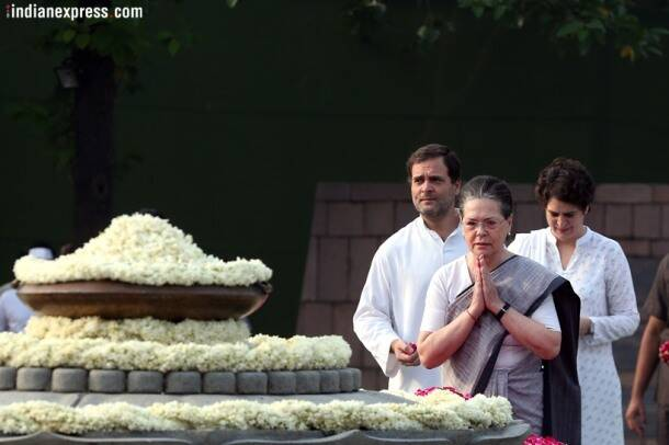 Gandhi family, Congress leaders pay their respects to Rajiv Gandhi on 74th birth anniversary