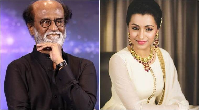 rajinikanth next to star trisha