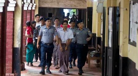 Myanmar, Myanmar reuters reporters, reuters reported jailed, Wa Lone, Kyaw Soe, jailed reuters reporters, World news, Indian express, latest news