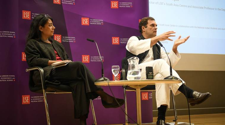 Rahul Gandhi speech at London School of Economics (LSE)