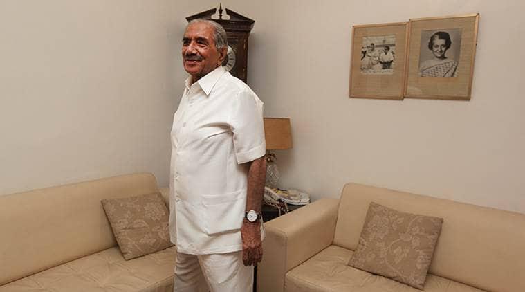 Senior Congress leader RK Dhawan. (Express file photo by Renuka Puri)
