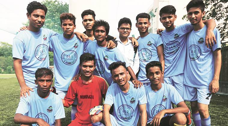 Delhi: A football match reminds Rohingya boys of time gone by