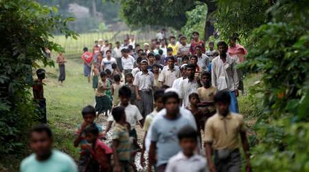 A year on, Rohingya still fleeing Myanmar for crowded camps