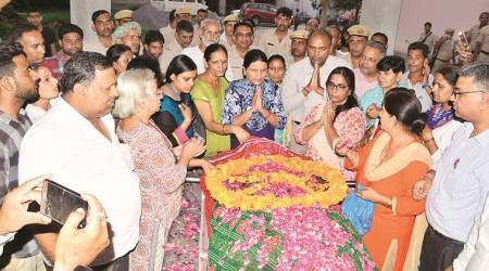 Rohtak honour killing: Three days after being shot dead, girl cremated by districtadministration
