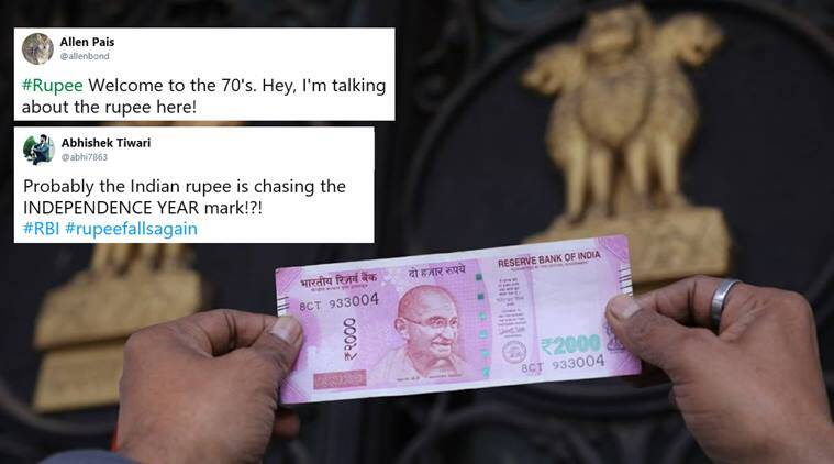 rupee, rupee historic low, rupee to dollar, indian rupee rate, rupee breaches 70, Rupee down, Rupee value down, value of rupee, rupee all time low, what is rupee value, why did rupee fall, twitter reactions, indian express, indian express news
