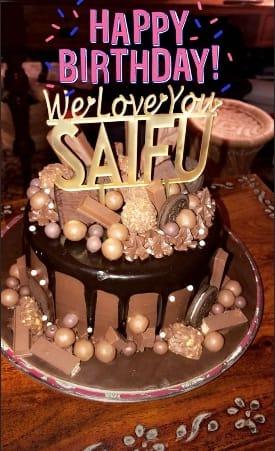 Saif Ali Khan Rings In Birthday With Kareena Kapoor Sara Ali Khan