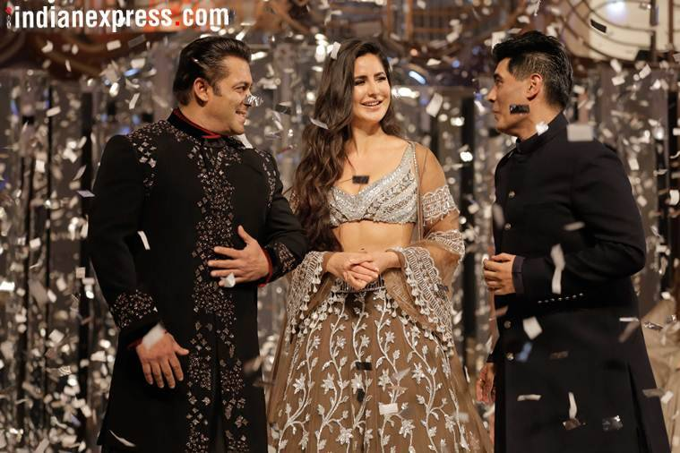 salman, katrina on manish malhotra show
