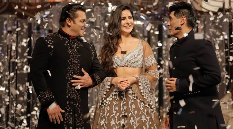 salman khan, katrina kaif showstoppers for manish malhotra