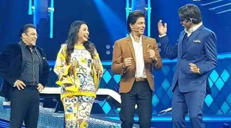Shah Rukh Khan and Salman Khan celebrate Sunil Grover's birthday on Dus Ka Dum sets
