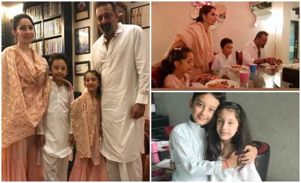 sanjay dutt family eid celebrations photos