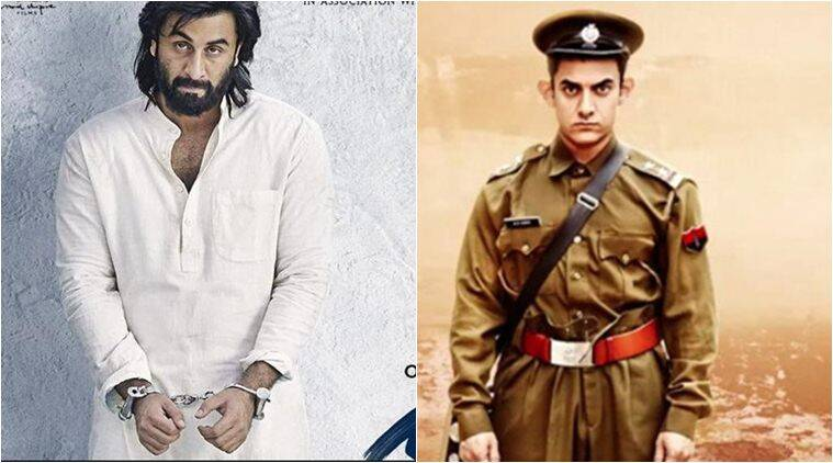 sanju crosses aamir khan's pk at the box office