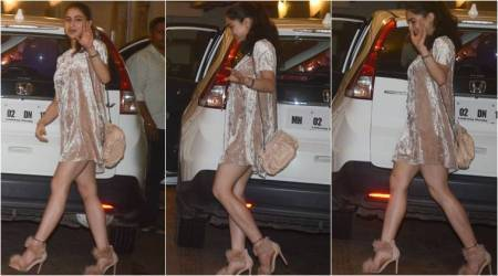 Sara Ali Khan shines bright in a tan mini dress at Saif Ali Khan's birthday bash