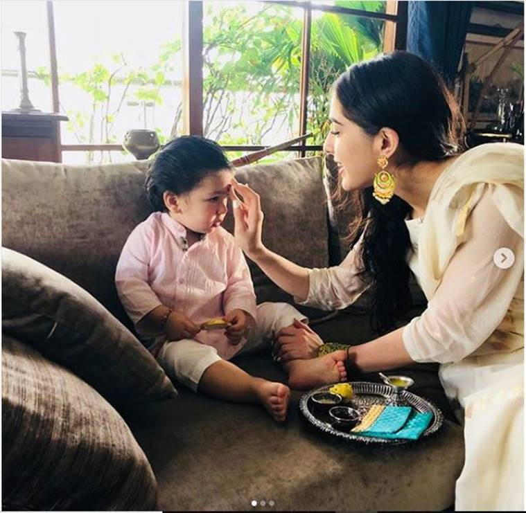 sara ali khan and taimur ali khan on rakshabandhan