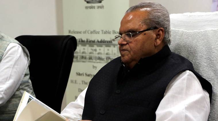 Satya Pal Malik, Satya Pal Malik jammu and kashmir govenor, J-K governor, kashmir unrest, kashmir terrorism, President Kovind, indian express
