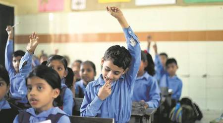 gujarat state department, gujarat school consolidation plan, rte act, ahmedabad news, indian express