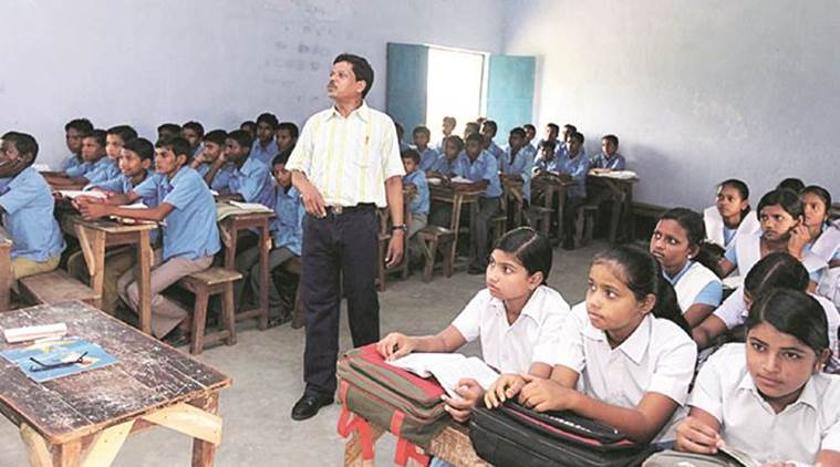 Gujarat, Gujarat teachers, Gujarat teachers checking papers, education news, Gujarat education board, GSHSEB, indian express