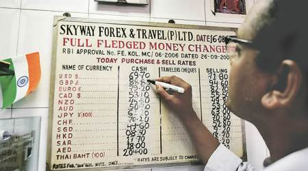Trade deficit worries: Rupee plunges 26 paise to end below 70 mark; Sensex falls 188points