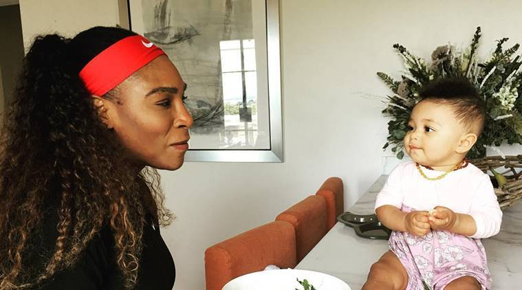 Serena Williams and daughter Alexis Olympia Ohanian Jr