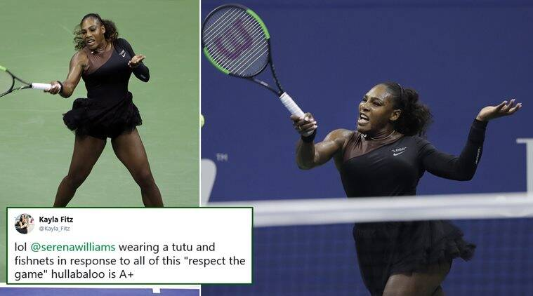 26832625999 Serena Williams won her first US Open match wearing a tutu