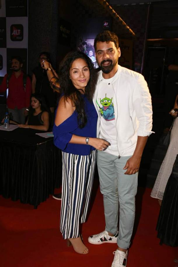 Shabir Ahluwali and Kanchi Kaul at Home screening