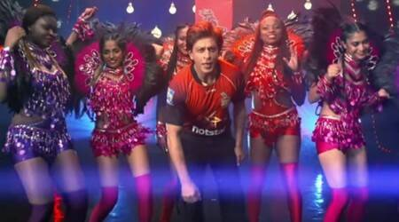 Shah Rukh Khan and Dwayne Bravo launch a new song for their cricket team