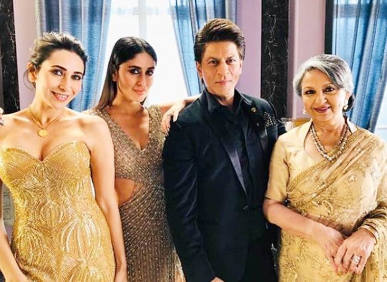 shah rukh khan with karisma kapoor and kareena kapoor khan