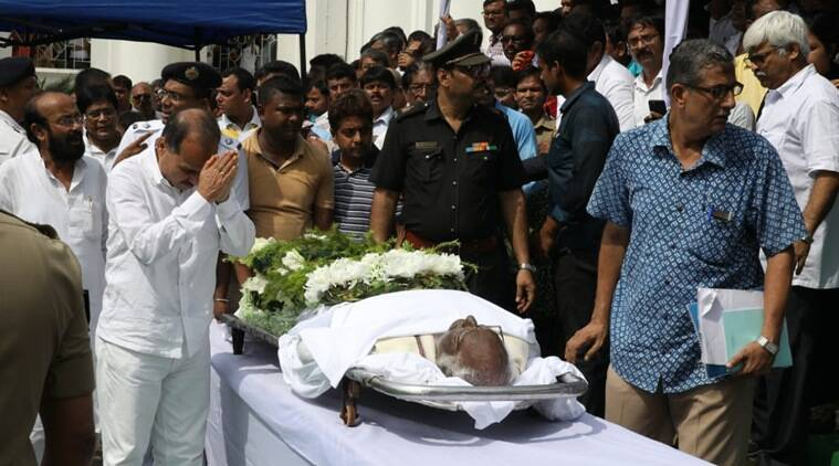 Somnath Chatterjee died due to multiple organ failure on Monday morning. (Express photo/Partha Paul)