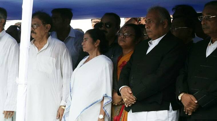 Chief Minister Mamata Banerjee at the state assembly on Monday. (Express photo/Partha Paul)