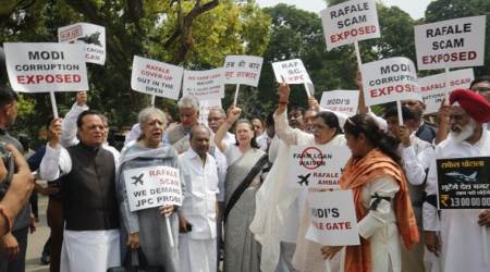 Rafale deal: Sonia Gandhi leads protest outside Parliament, demands JPC
