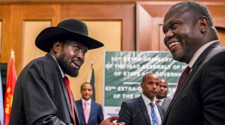 South Sudan's warring leaders sign peace deal to share power