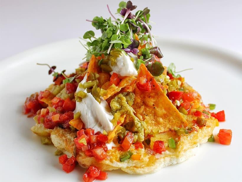 Spanish Omelette with Nachos, breakfast recipe