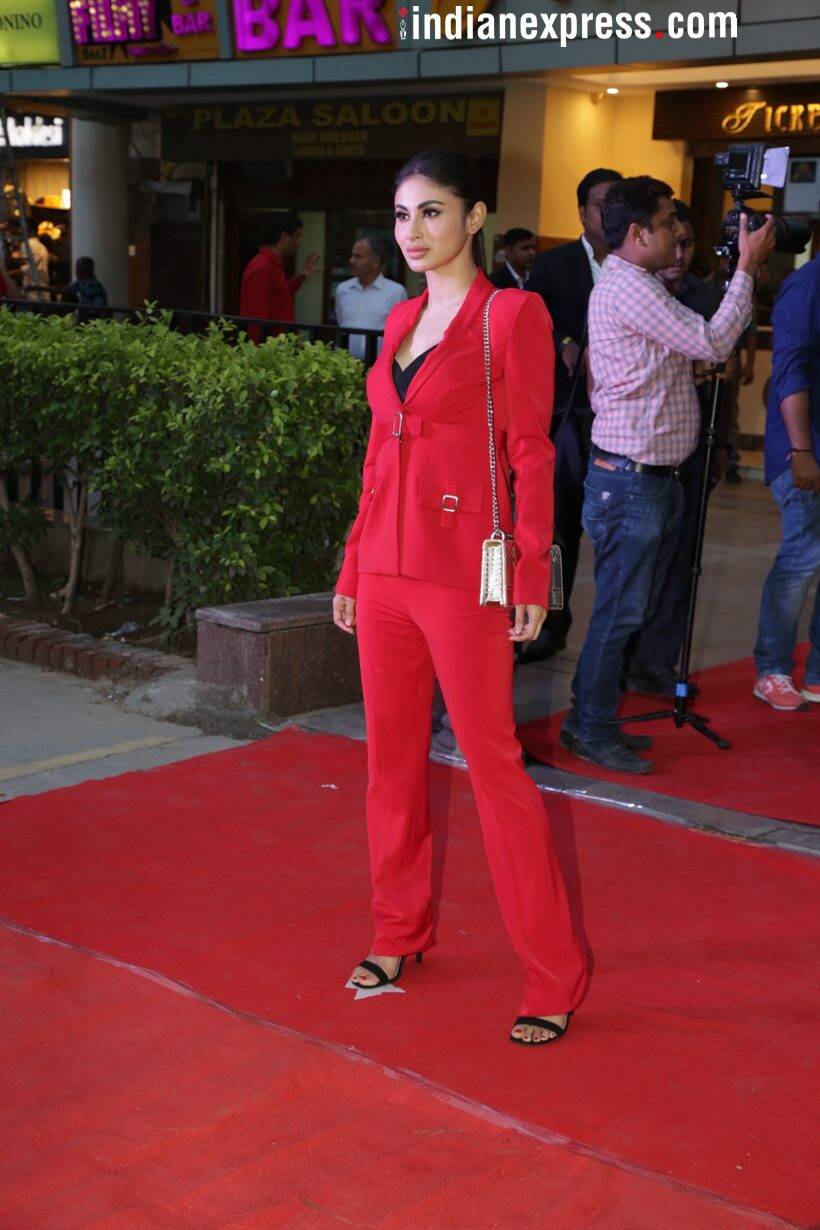 mouni roy gold promotional event