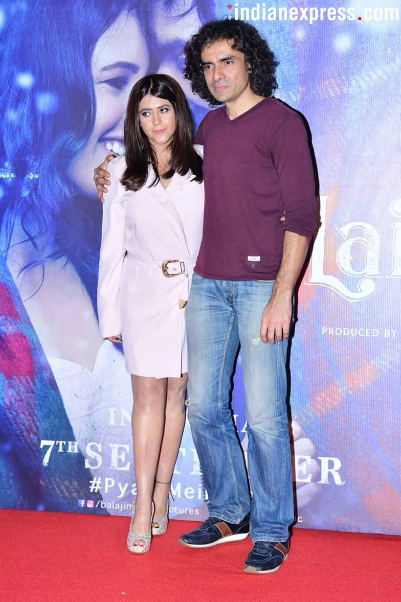 Pictures from Laila Majnju trailer launch.