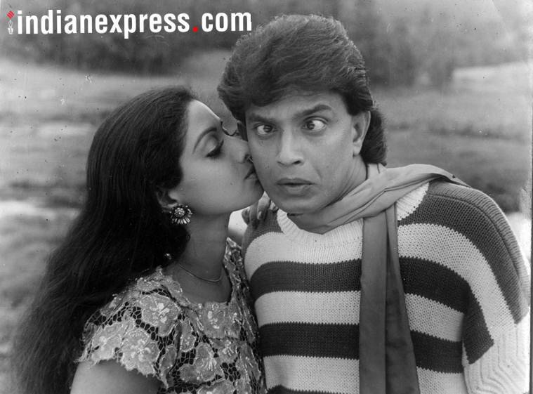 sridevi with mithun chakrabarty