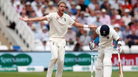 India vs England: Stuart Broad fined 15 percent for breaching ICC Code ofConduct
