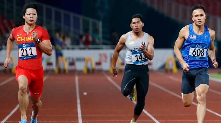 Chinas Su Bingtian Eased Through The  Metres Heats To Remain On Course To Become The Continents Fastest Man Source Reuters