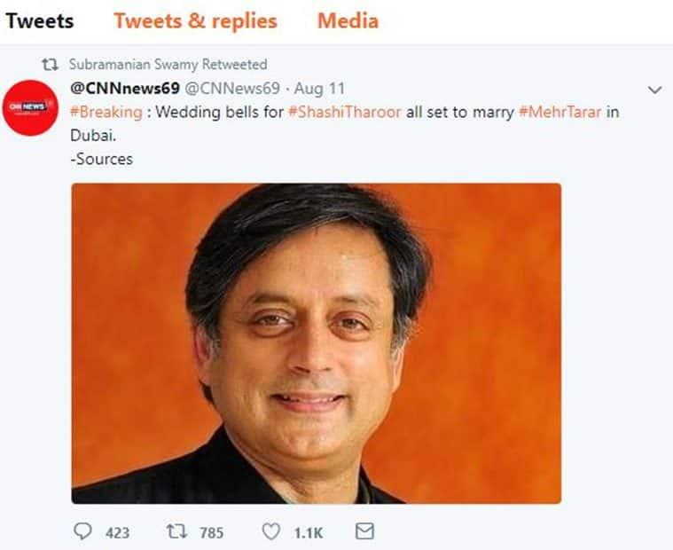 Marrying Shashi Tharoor? Mehr Tarar slams Twitterati for believing parody account
