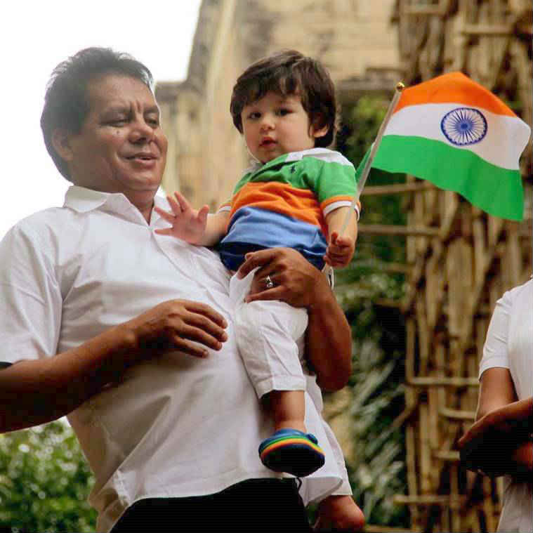 taimur ali khan independence day tricolour flag