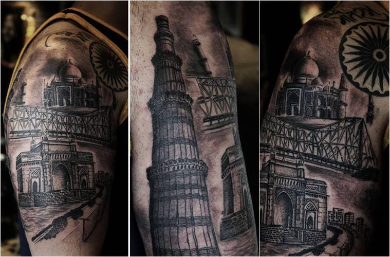 Independence Day 2018, 72nd Independence Day 2018, Independence Day tattoos, Independence Day designs, Independence Day painted tattoos, Independence Day tattoo designs, patriotic tattoos, indian express, indian express news
