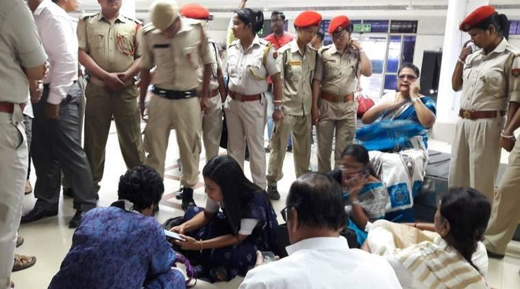 An eight-member TMC delegation were stopped at the Silchar airport when they tried to enter Assam's Cachar district on Thursday.