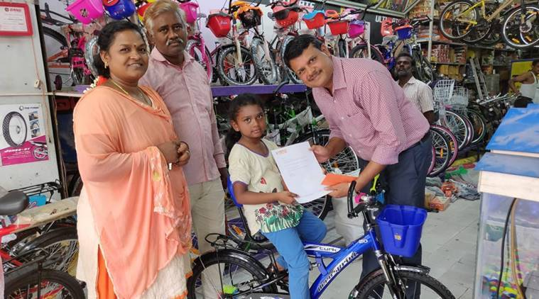 Tamil Nadu Girl Who Donated Her Savings To Kerala Flood Relief Gets Brand New Cycle -8895