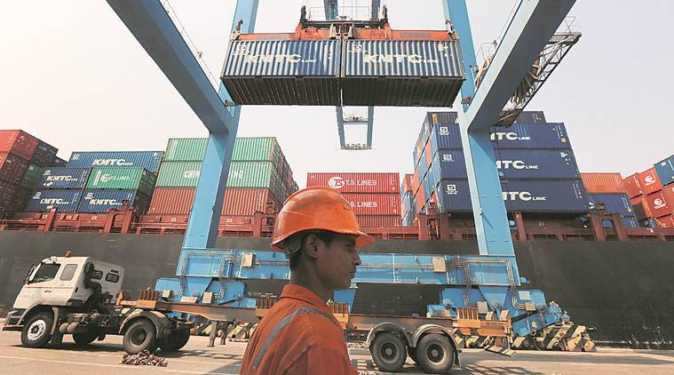 India export, India export decline, trade deficit india, low trade deficit, decline in export, indian rupee value, business news, indian express, latest news