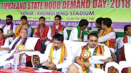 Tripura statehood demand, tripura slogans, tripura government, tripura ipft, tripura tribals, tripura news, northeast india, northeast news