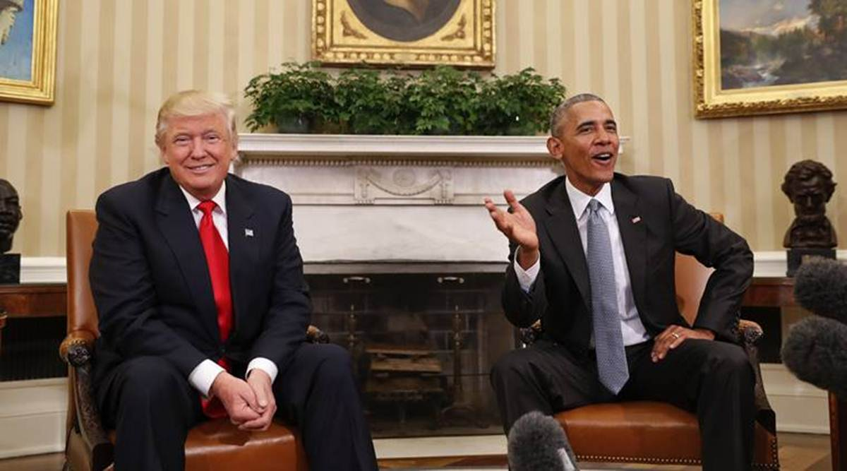 Donald Trump, Barack Obama, US elections 2020, us presidential elections 2020, trump refuses to concede, us president elect Joe Biden, Kamala Harris, indian express