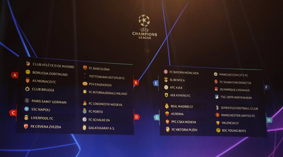 Uefa Champions League Draw Manchester United Land Juventus Barcelona In Group Of Death Sports News The Indian Express