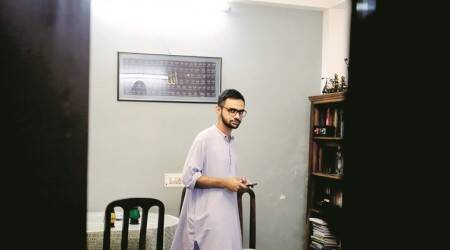 Umar khalid, umar khalid attacked, Constitution Club, CCTV footage, Gol Dak Khan, Indian Express news