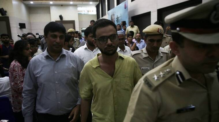 JNU student Umar Khalid was reportedly attacked in the national capital on Monday. (Express photo/Renuka Puri)