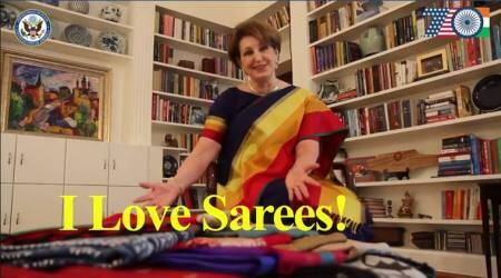Remember the US envoy in India who ran a #SareeSearch last year? Here's her message this year